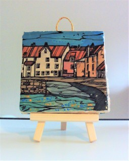 Hand Painted East Neuk of Fife Tile