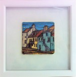 Hand Painted East Neuk of Fife Framed Tile