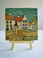 Available IN-STORE ONLY at Artery Gifts St Andrews (Hand Painted Ceramic Tile using Acrylic Paint and Ink £48.OO